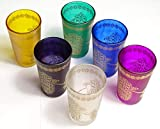 Juego de 6 Vasos marroquíes para el té artesanales