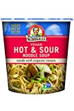 Dr. McDougall's Right Foods Vegan Hot & Sour Ramen, 1.9 Ounce Cups (Pack of 6) Non-GMO, No Added...