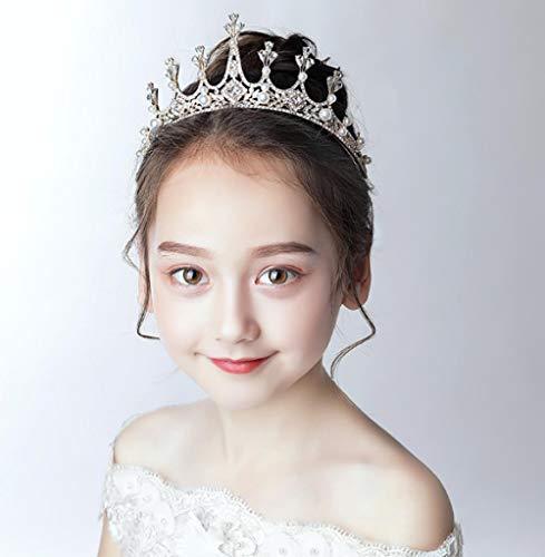Couronne diadème princesse fille couronne cristal fille anniversaire coréen cheveux cerceau fille catwalk accessoire de cheveux