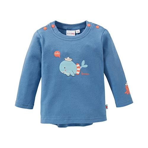 Bornino T-shirt à manches longues baleine top bébé vêtements bébé, bleu