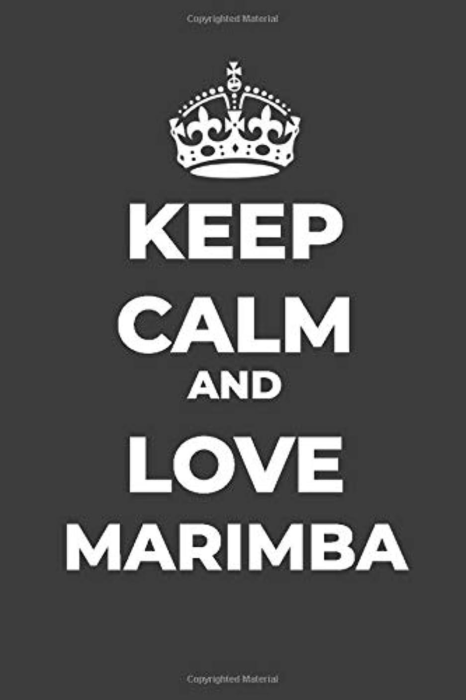 鉄道ピストンインディカKeep Calm And Love Marimba: Composition Journal, Rules, Blank Lined Journal, Diary