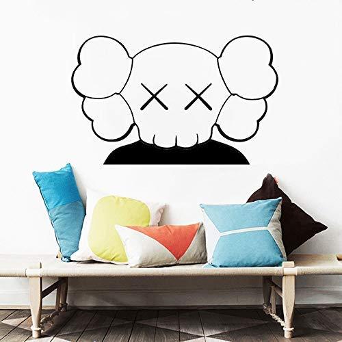 BHDSV KAWS Art Wandaufkleber für Kinderzimmer Wandbild Wohnaccessoires Wohnzimmer Vinyl Aufkleber Anime Poster Schlafzimmer Dekor Kinderzimmer 57 * 36Cm