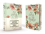 NIV, Artisan Collection Bible, Cloth over Board, Teal Floral, Designed Edges under Gilding