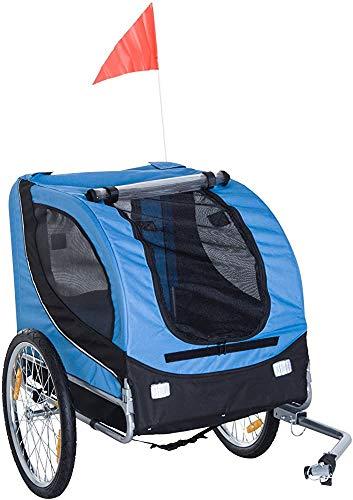 SGRMYS Chiens de bicyclettes avec Couvercle et de l'acier de Suspension Bicyclette Jogging kit de remorque,Blue