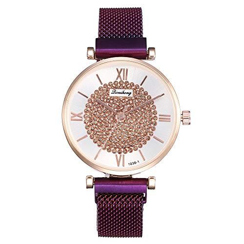 UINGKID Damen Armbanduhr Analog Quarz Casual Edelstahl Newv Analoge Armbanduhr