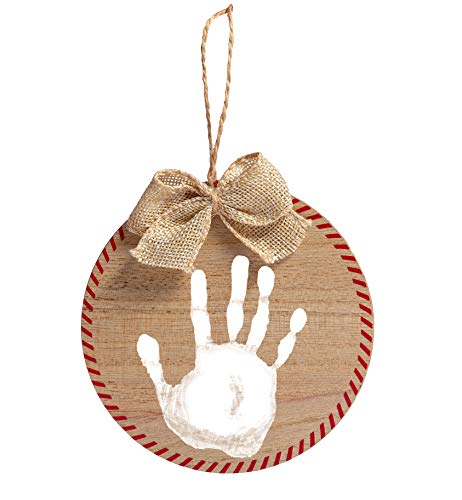 Pearhead Baby Handprint DIY Rustic Christmas Ornament and Paint, Christmas Tree Ornaments