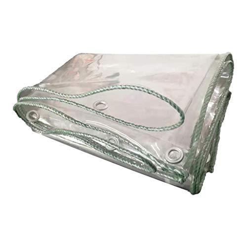 Lona Cubierta de la Lluvia del Parabrisas Lluvia Suave Cortina de Vidrio Transparente de PVC Agua y al Polvo Techo corredizo Tela de Lona balcón LIUDINGDING (Color : Transparent, Size : 2.4x4m)