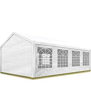TOOLPORT Carpa para Fiestas 4x8 m en Blanco Lona PE 180 g/m² Impermeable Carpa para el jardín con protección UV