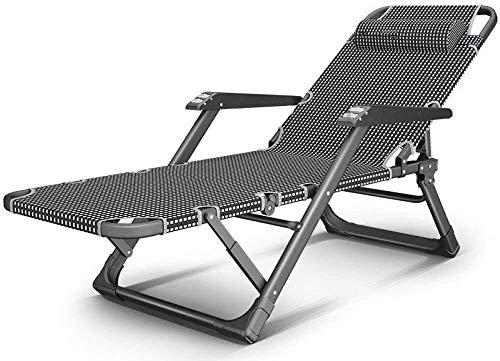 Klappbarer Patio-Liegestuhl Liegestuhl Faltbare Sonnenliegen,Atmungsaktive Chaiselongue-Stühle Ohne Schwerkraft,rutschfest,Robust und Langlebig für Patio-Gartenunterstützung im Freien 300 Kg