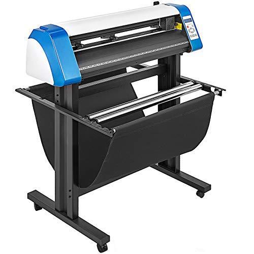 VEVOR Vinyl Cutter 28 inch Vinyl Cutter Machine 720mm Vinyl Printer Cutter Machine LED Fill Light Strip Vinyl Plotter Cutter Machine with Floor Stand Signmaster Software