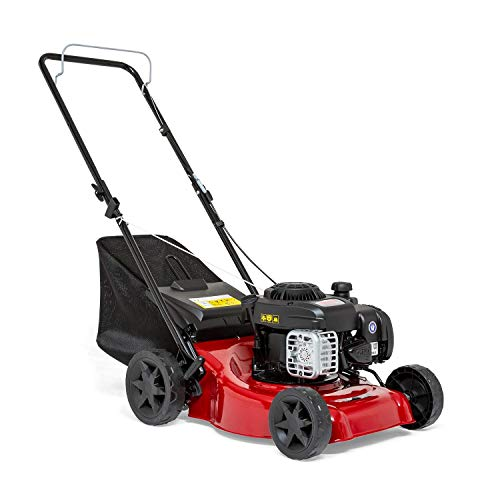 Sprint 2691620 410P Push Petrol Lawn Mower 41cm (16'), Briggs & Stratton 300E Series 125cc, Dark red, 40 cm/P