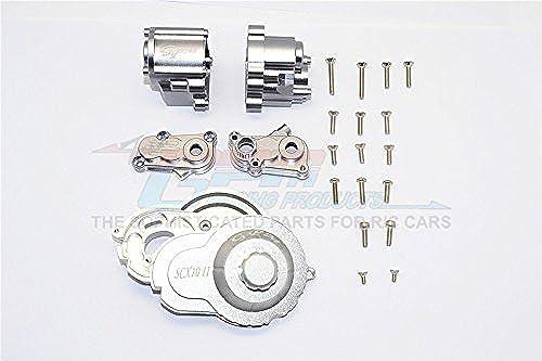 Axial SCX10 II Tuning Teile (AX90046) Aluminium Center Gear Box - 1 Set grau Silber