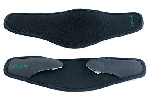 2 Stück activera® Armschalenpolster für Unterarmgehstützen mit Klettverschluss schwarz