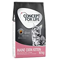 Concept for Life Maine Coon Kitten Dry Cat Food, 10 kg, for Kittens Aged 4-15 Months, Made with Rice...
