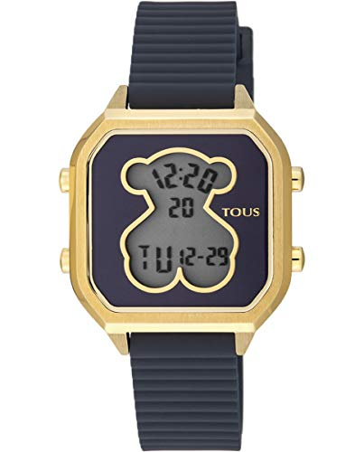 TOUS Reloj Mujer D-Bear Teen Square IPG Silicona Azul- Ref 100350390