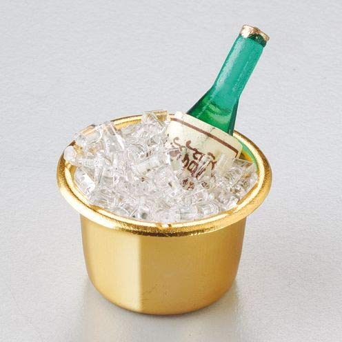 EFCO - miniatuur champagne fles in koeler, meerkleurig, 3,5 cm