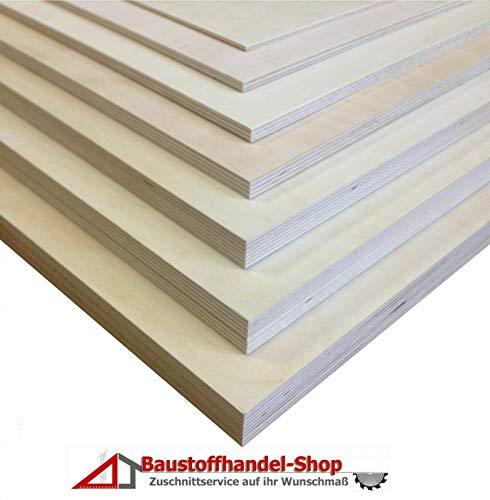 10mm Sperrholzplatten 25€/qm Multiplexplatten Sperrholz Bastelholz Laubsägearbeiten Möbelbau Modellbau Leichtbau Innenausbau (30 x 30 cm)