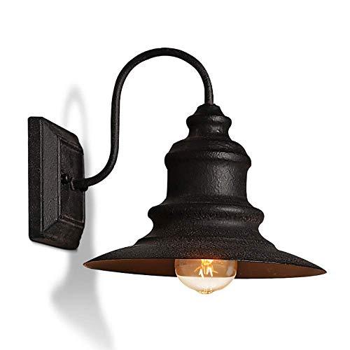 DSHUJC American Industry Lámpara de Pared Impermeable a Prueba de óxido Patio Exterior Pared Exterior Balcón Pasillo Aplique de Pared Retro Simple Aplique de Pared LED