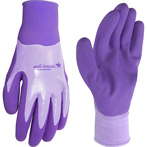 Wells Lamont Waterproof Work Gloves, Women's, Nitrile Coated, Medium (566M)