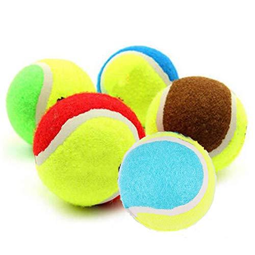 5 STK 6.5cm Pet Tennis Balls Fetch Throw Chew Dog Balls Spielzeug, Farbige Tennisbälle Lustiges Hundespielzeug, Für Pet Dog Chew Toy Pet Toy Ball Outdoor Run Catch Toy
