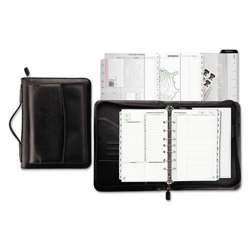 Day-Timer Vinyl/Microfiber Briefcase Starter Set, 5 1/2 x 8 1/2 - Black