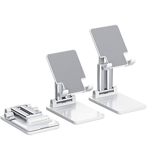 KLAS REMO Foldable Adjustable Phone Stand, Mobile Phone Mount Tablet Holder with 2 Supporting Arms, 2020 New Update Version Cradle Compatible with Phones iPad Samsung Galaxy Tabs Kindle