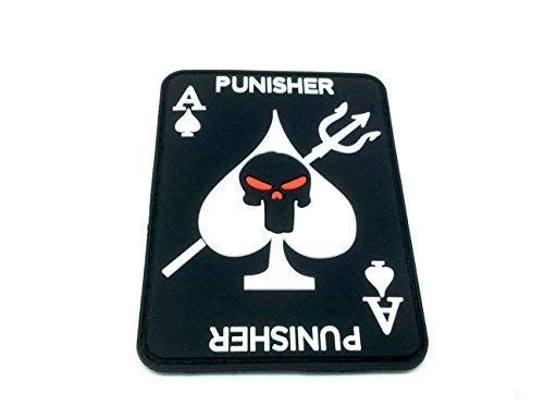 ACE OF SPADES Punisher Airsoft Paintball PVC parche Moral