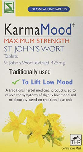 Schwabe Pharma KarmaMood Maximum Strength St John's Wort Extract 425mg Tablets- Pack of 30 Tablets