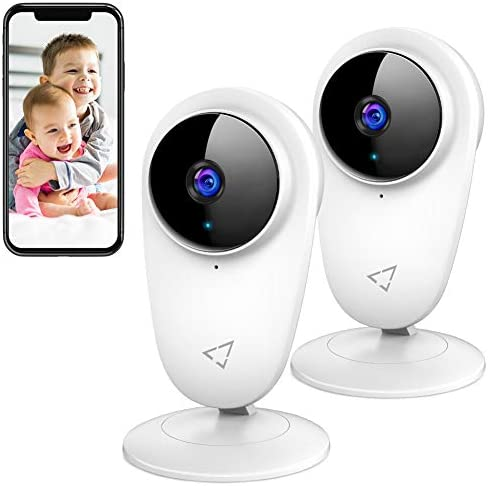 Victure 2pcs 1080P Video Baby Monitor WiFi Camera Home Camera Indoor Pet Security Camera with product image