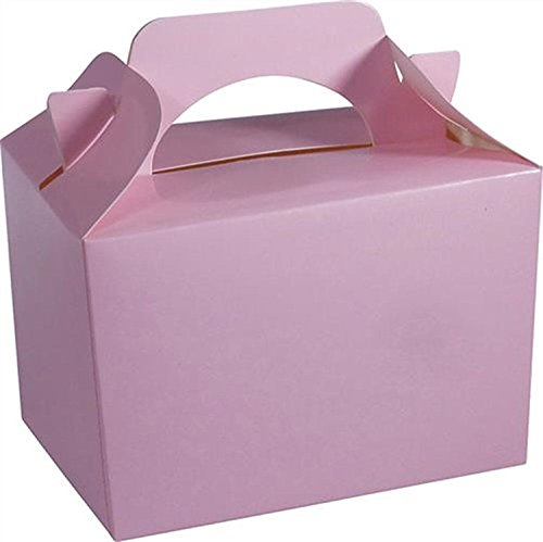 10 x BABY PINK Kid Childrens Plain Activity Food Loot Favour Birthday Party Bag Gift Box Wedding Toy Christmas by Concept4u