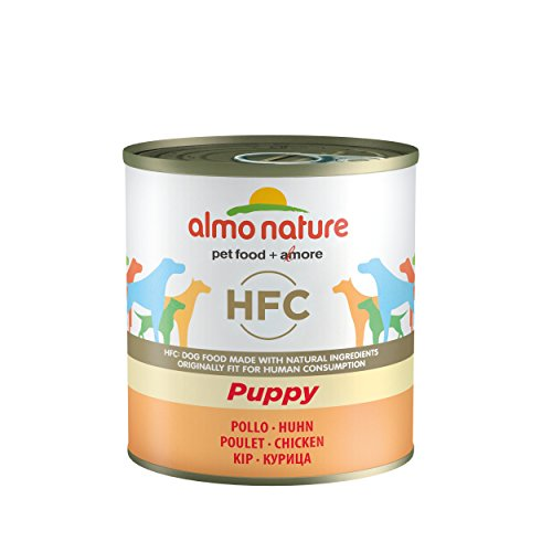 almo nature HFC Natural - Puppy con Pollo - Umido per Cuccioli 100% Naturale - 12x280 g lattina