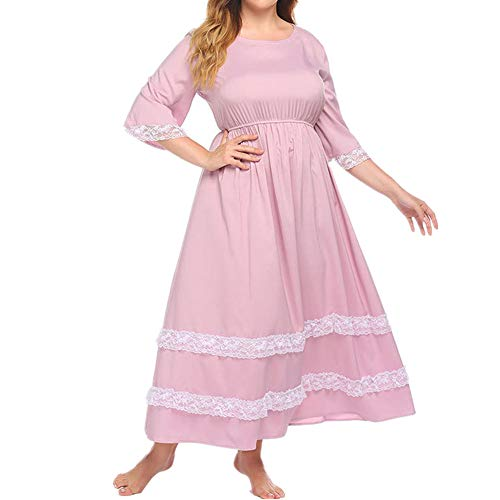 U/A Oversized Ladies Nightdress Lace Trim Nightdress with Color and Fertilizer