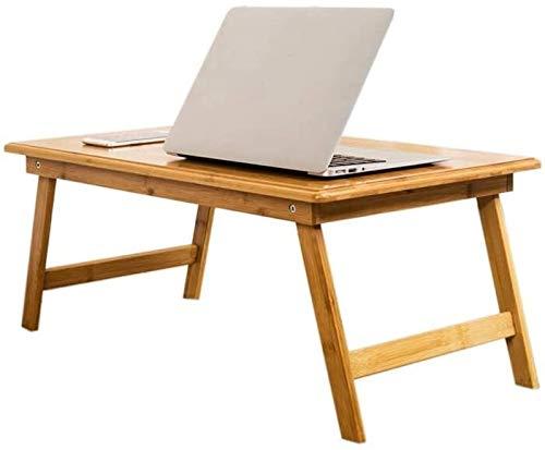 Mr.T Massivholzklapptisch Einfache Laptop-Computer-Tabellen-Bett mit faltbarem Schreibtisch Massivholz-Platte Wasserdicht Glatten Hänge-Tisch im Restaurant zu Essen (Size : 60x40x25cm)