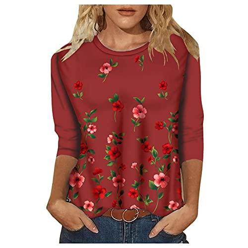 Yue668 - Jersey de punto hueco, para mujer, diseño de rayas de colores, Mujer, Vino, large