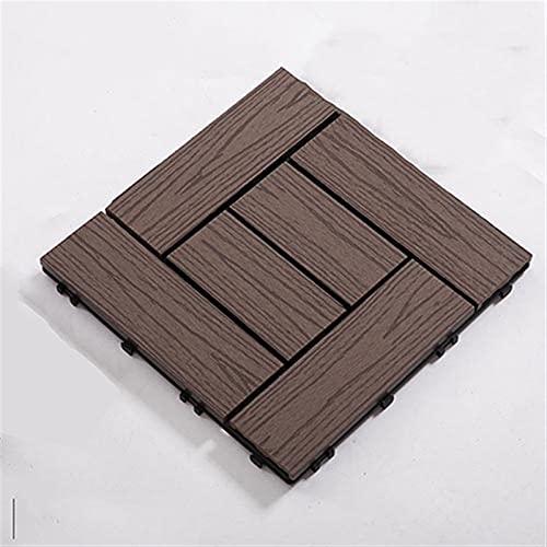 GUORRUI Baldosas De Jardín con, Material Reciclado Deck Composite Plus Decking Tiles, Kit de Cubierta compuesta, Azulejos para terrazas para jardín, Patio, terraza (Color : F, Size : 300x300x22mm)