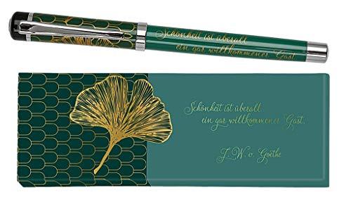 moses. libri_x Johann Wolfgang von Goethe - Bolígrafo de tinta con mina azul intercambiable, en caja de regalo, multicolor