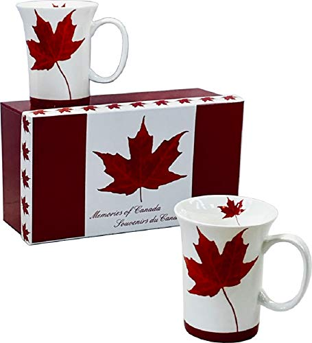 McIntosh Memories Of Canada Fine Bone China (11 oz) Set of 2 Mug Set in Matching Gift Box