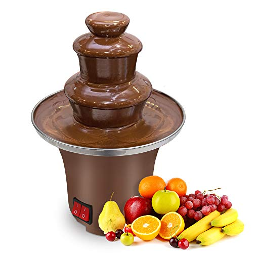 Micnaron 8 Ounce Chocolate Pro Fountain,0.5 lb Capacity Chocolate Fondue Fountain,3 Tiers Chocolate Fountain for Party.
