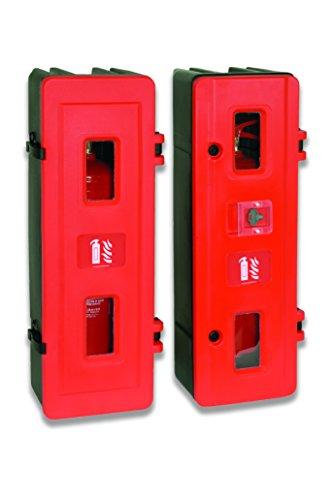 Jonesco hs83único extintor armario, tamaño grande, color rojo