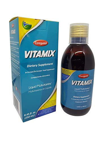 Ceregumil VITAMIX Liquid Multivitamin with Vitamin B Complex (B12, B6), Vitamin D3 & Biotin | Natural, Mediterranean Plant-Based Formula for Children, Teens, Adults & Seniors 8.45 Onz.
