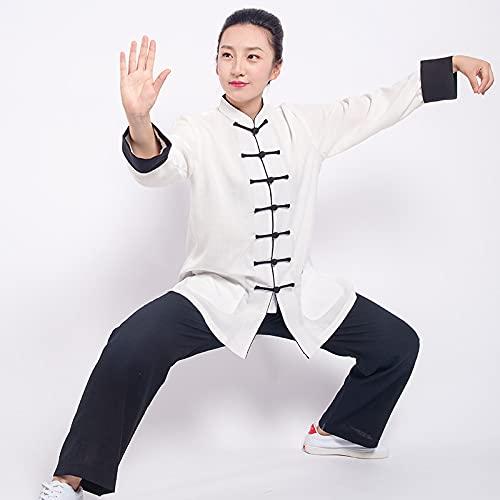 Tai Chi Uniforme Artes Marciale, Artes Marciales Tradicionales De China, Trajes De Kung Fu, Traje De Camisa, Uniforme, Ropa De Kung Fu Unisex,White-S