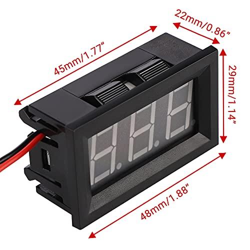 12 Volt Digital Voltmeter, DROK 0.56