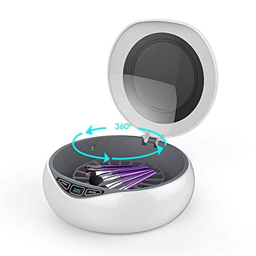 Pkfinrd Cargador inalámbrico ULTRAVIOLETA multifuncional caja de esterilización UV 15W cargador rápido estación de muelle portátil teléfono móvil cosméticos lámpara de desinfección ultravioleta