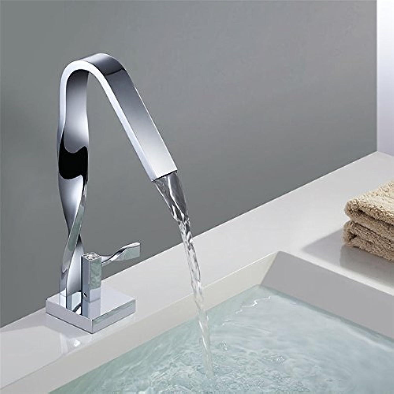Waschtischarmatur Einhebel-Waschtischmischer Chromiertes Mischventil für heie und kalte Waschtischarmatur
