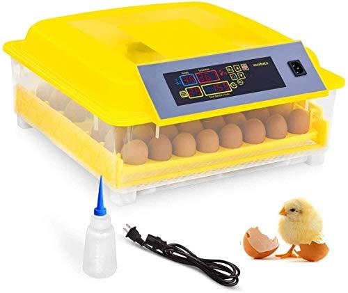 Oppikle 56 Eier Intelligentes digitales Brutmaschine Brutkasten mit LED Temperaturanzeige und Feuchtigkeitsregulierung,Inkubator Vollautomatische Brutmaschine (48 Eier - Style2)