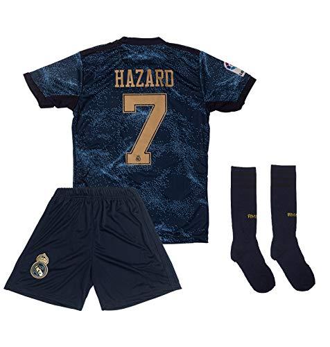 ATB Real Madrid 2019/2020#7 Hazard Auswärts Kinder Fußball Trikot und Shorts mit Socken Kinder und Jugend Größe