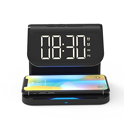 Blaupunkt MP2850-133 - Altavoz Despertador con Cargador de inducción para Smartphone, Radio Despertador, Compatible con Bluetooth, 4 W, Color Negro