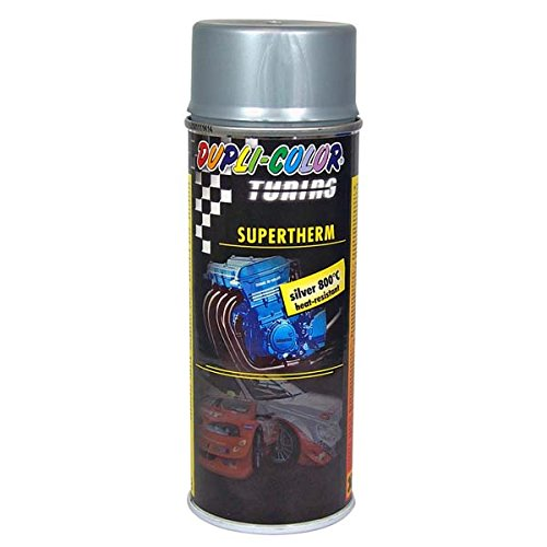 Dupli-Color 191770 Tuning-Lackspray hitzefest Supertherm 800°C, 400 ml, Silber