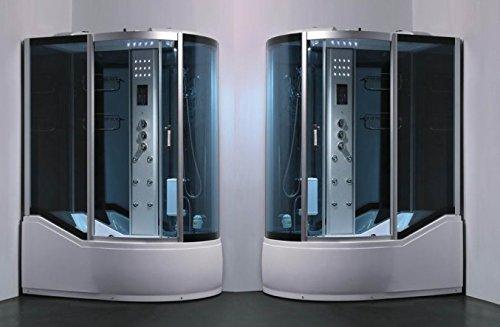 Box Idromassaggio con vasca 150x90 cabina multifunzione colonna doccia e soffione