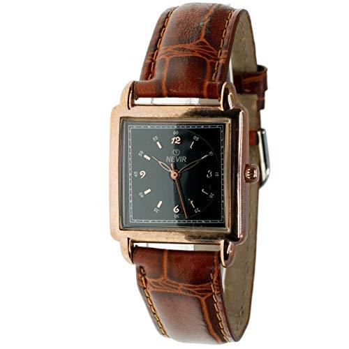 Nevir Mod. 07164 - Reloj de Cuarzo analógico para Mujer. Color marrón